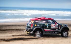 Picture Sand, Sea, Beach, Mini, Dust, Sport, Speed, Race, Coast, 307, Rally, Dakar, Dakar, SUV, Rally, …