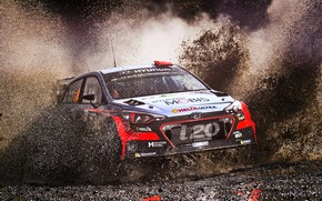 Picture Auto, Sport, Machine, Race, Dirt, Squirt, Hyundai, Car, WRC, Rally, Rally, i20, Hyundai i20, Hyundai …