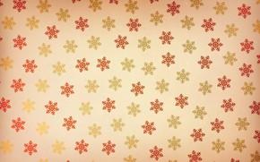 Picture pattern, paint, Wallpaper, snowflakes