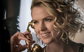 Picture girl, Batman, smile, face, blonde, Gotham, season 3, tv series, Barbara Kean