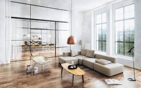 Picture furniture, bottle, interior, the room, Dream Apartment