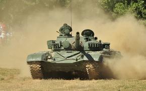 Wallpaper dust, tank, combat