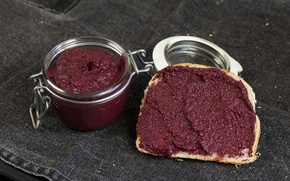 Picture Homemade, Bread, Nutella with beet