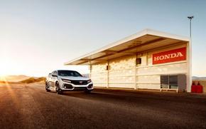 Picture car, logo, Honda, Honda Civic Tyre R