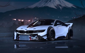 Picture car, BMW, logo, supercar, technology, BMW I8