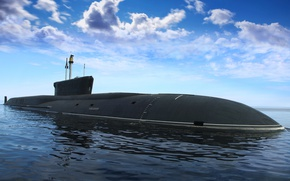 Picture submarine, Borey, atomic, submarine, cruiser, strategic, underwater, purpose