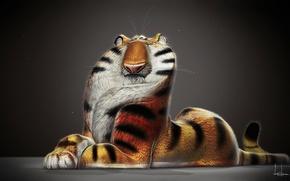 Wallpaper jb vendamme, render, tiger, art, figure, tiger