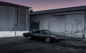 Picture Dodge, Black, Charger, 1970, Muscle car, Custom