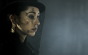 Picture sad, dress, hat, woman, grief, Taboo, black dress, veil, TV series, Oona Chaplin, miniseries, mourning