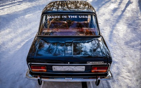 Picture winter, Lada, made in ussr, VAZ-2103