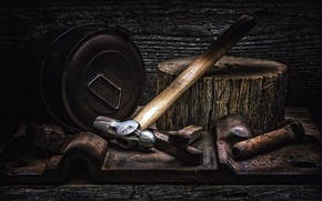 Picture background, hammer, tool