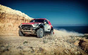 Picture Auto, Mini, Dust, Sport, Machine, Speed, Race, Car, Rally, SUV, Rally, 206, X-Raid Team, MINI …