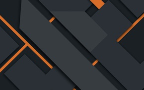 Picture line, abstraction, geometry, black, design, orange, material