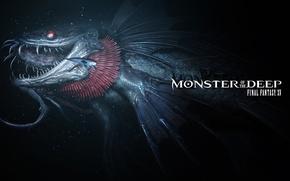 Picture Final Fantasy, monster, fang, fish, Final Fantasy XV, bakemono, E3 2017, Monster Of The Deep