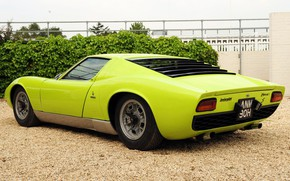 Picture Color, Auto, Lamborghini, Retro, Green, Machine, Car, Supercar, 1970, Miura, Supercar, Lamborghini Miura, Italian, Body, …