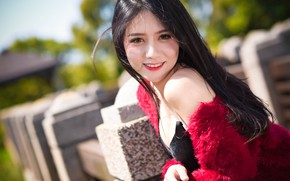 Picture look, face, smile, sweetheart, girl Oriental