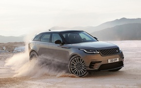Wallpaper Land Rover Range Rover Velar, Range Rover Velar, car, speed, Land Rover