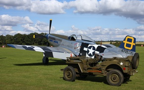 Picture fighter, North American, P-51 Mustang, Willys MB