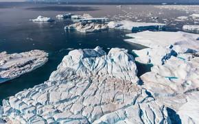 Picture ice, winter, sea, water, snow, ice, glacier, iceberg, ice, ice, North, relief, Greenland