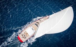 Picture sea, custom, B-116-01, sail test in Malta, Baltic Yachts, superyacht Doryan