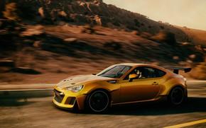 Picture The evening, Subaru, Race, Photoshop, Photoshop, Speed, Ubisoft, The Crew, Full HD