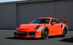 Picture Porsche, Orange, GT3RS, 991