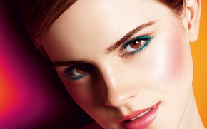 Picture look, advertising, Mario Testino, brown hair, face, beauty, 2012, hairstyle, makeup, close-up, Lancome in Love, …