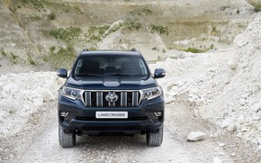 Picture stones, vegetation, SUV, Toyota, 4x4, breed, Land Cruiser, the five-door
