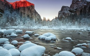 Picture nature, Yosemite National Park, Gates of the Valley