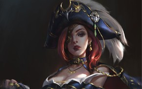 Wallpaper look, art, League of Legends, Miss Fortune