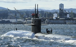Picture submarine, Los Angeles-class, SSN-698, USS Bremerton