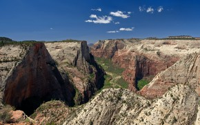 Picture mountains, rocks, canyon, gorge, Utah, USA, national Park, Zion