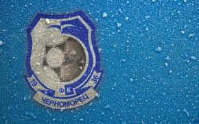 Picture Black, Blue, Sport, Logo, Football, Background, Logo, Coat of arms, Club, Odessa, Cold, Chernomorets, 1936, …