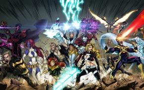 Picture Mystic, Wolverine, Storm, Rogue, Magneto, Marvel Comics, Professor X, Beast, Colossus, Iceman, Shadowcat, Blink, Quicksilver, …