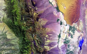 Wallpaper Earth, photo, paint, mountains, NASA