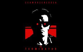 Picture robot, red eyes, Terminator, cyborg, Arnold Schwarzenegger