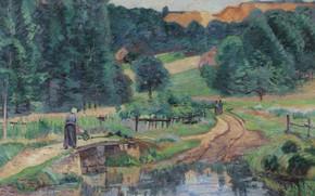 Picture picture, Arman Hyomin, Armand Guillaumin, Landscape Saint Sharon