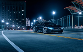 Picture BMW, Front, Black, Night, Collection, Aristo, i8