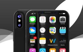 Picture Apple, iPhone, hi-tech, clock, smartphone, technology, iPhone X