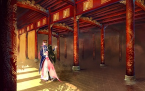 Picture girl, dance, pair, male, Palace