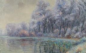 Picture landscape, nature, picture, Frost, Gustave Loiseau, Gustave Loseau