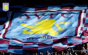 Picture wallpaper, sport, logo, stadium, football, fans, Aston Villa FC, Villa Park