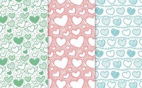 Picture background, Wallpaper, texture, hearts, patterns, hearts