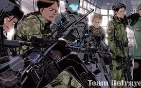 Picture weapons, soldiers, guns, Sword art online, Sword Art Online, Sword Art Online Alternative: Gun Gale ...