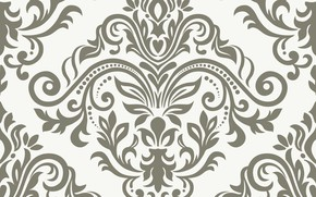 Picture flowers, pattern, vector, texture, ornament, with, vintage, pattern, ornament, seamless, damask