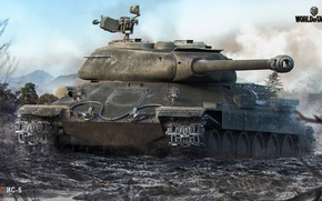 Wallpaper dirt, tank, World of Tanks, Is-6, Wargaming net