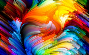 Wallpaper paint, colors, colorful, abstract, rainbow, background, splash, painting