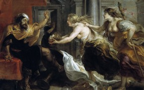 Picture picture, Peter Paul Rubens, mythology, Pieter Paul Rubens, Tereu at the Feast Presented the Head …