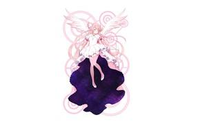 Picture art, girl, white background, Mahou Shoujo Madoka Magica, Girl Madoka
