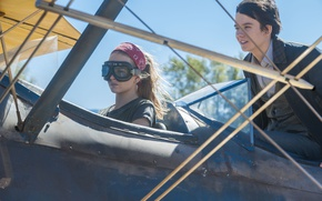 Picture cinema, girl, airplane, movie, film, Britt Robertson, Asa Butterfield, The Space Between Us